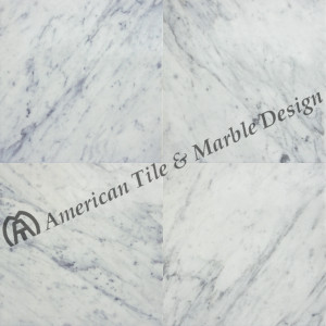 18x18 Carrara White Marked